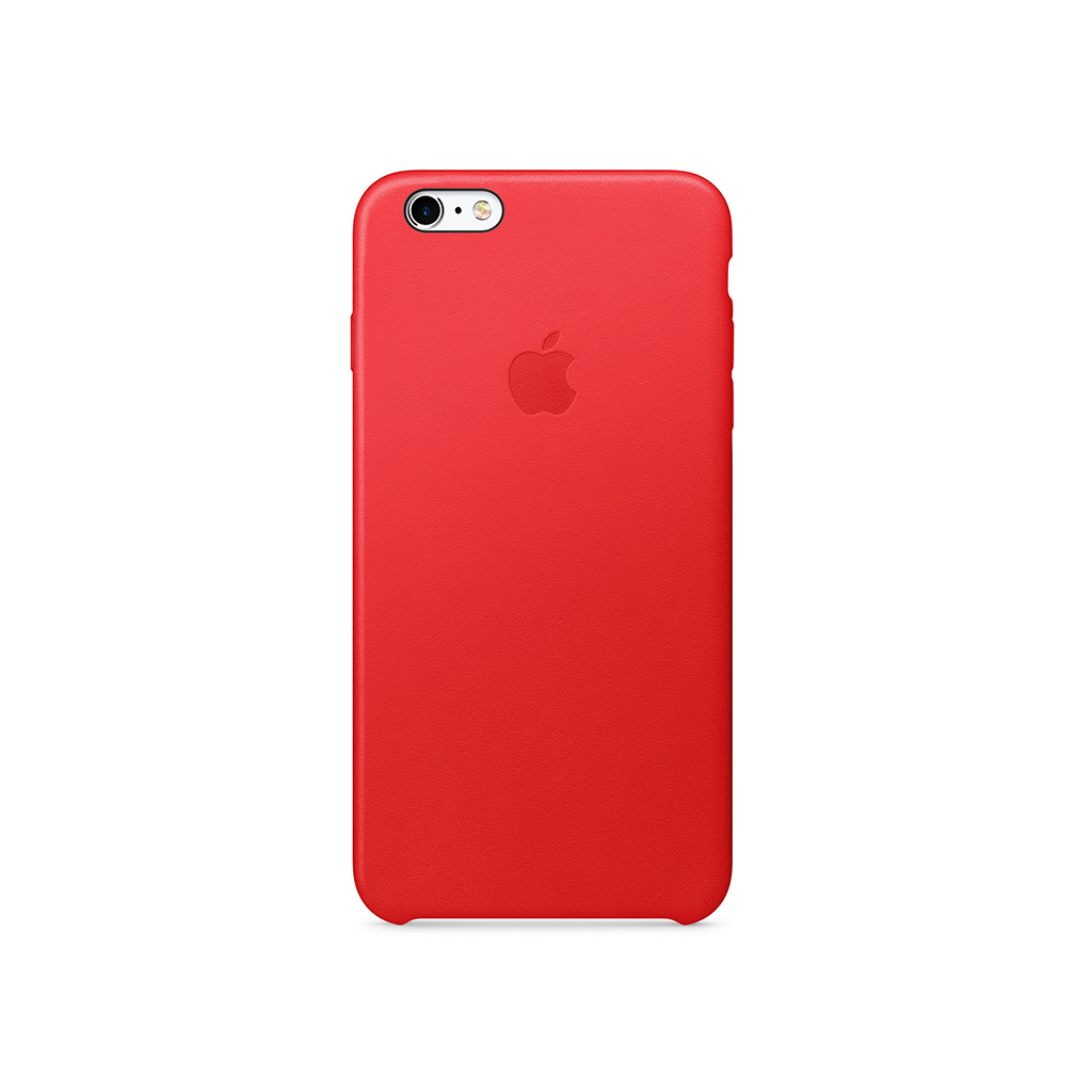 iPhone 6s Plus Leather Case Red