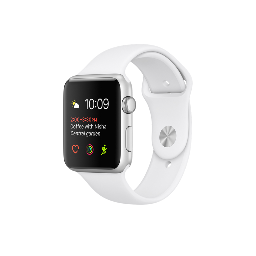 Apple Watch Series 1 42mm Aluminio correa Sport blanco