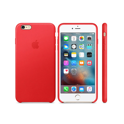 iPhone 6s Leather Case Red
