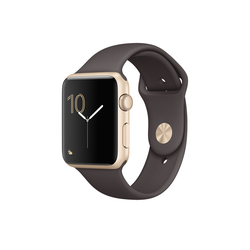 Apple Watch Series 1 42mm Aluminio oro correa Sport cacao