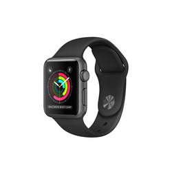 Apple Watch Series 1 38mm Aluminio gris espacial correa Sport negra